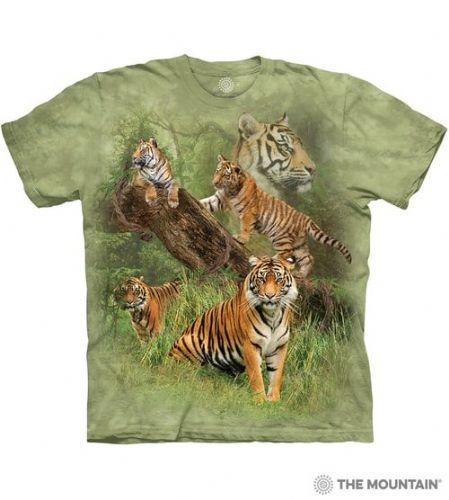 Wild Tiger Collage T-shirt | The Mountain®